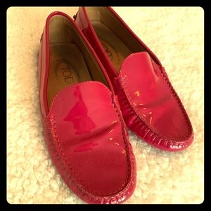 Tods patent leather pink